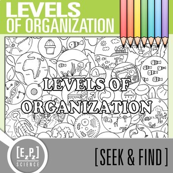 Levels of Organization Seek and Find Science Doodle Page