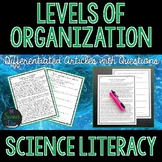 Levels of Organization and Cell Theory Literacy Article - Distance Learning