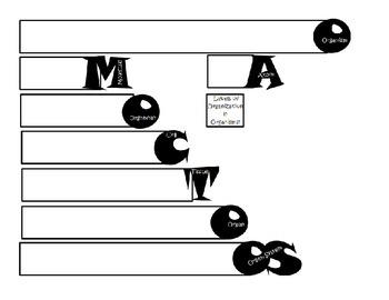 Levels of Organization in Organisms WORDBOOK Foldable