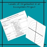 Levels of Organization in an Ecosystem Project
