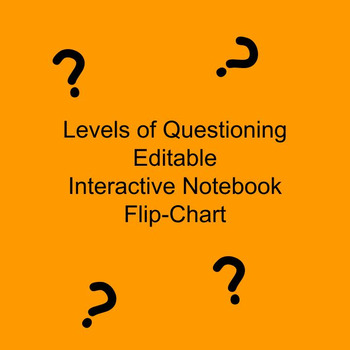 Levels of Questioning Editable Interactive Notebook Flip-Chart & Slides