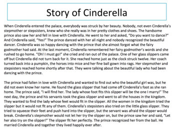 Levels of Questions using the Story of Cinderella - Critical Thinking