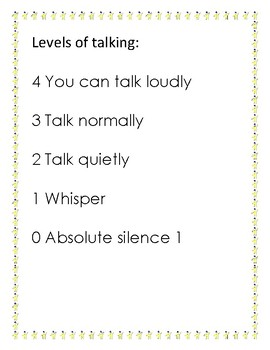 Levels of Talking