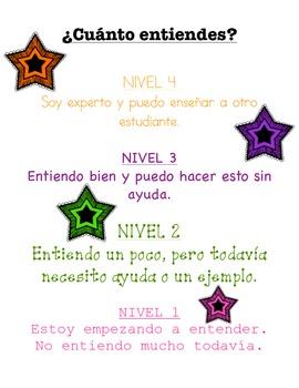 Levels of Understanding in Spanish