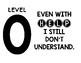 Levels of Understanding