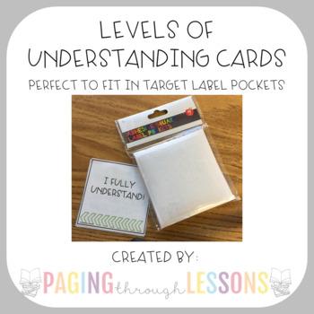 Levels of Understanding (Adhesive Target Pocket Labels)