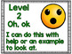*FREEBIE* Levels of Understanding Charts with Emojis - Student-Friendly Language