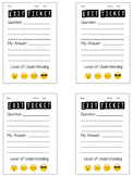 Levels of Understanding Emoji Exit Ticket