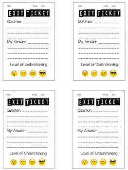 levels of understanding emoji exit ticket by digging into sixth tpt