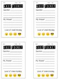 Levels of Understanding Emoji Exit Ticket