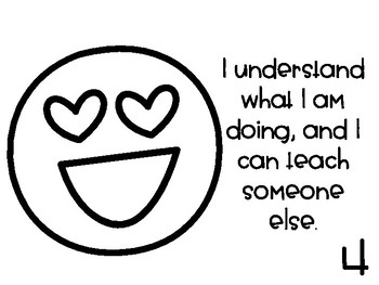 Levels of Understanding (Emoji Theme) - Printer Friendly