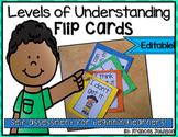 Levels of Understanding Flip Cards