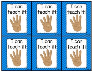 Levels of Understanding Flip Cards: Hand Signals