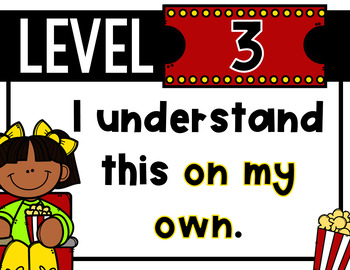 Movie Themed Levels of Understanding Posters and Rubrics