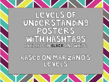 Levels of Understanding Posters with Hashtags!