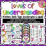 Levels of Understanding Posters, Bookmarks & Desk Tags Set