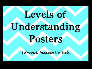 Levels of Understanding Posters - Formative Assessment