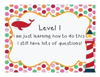 Levels of Understanding Posters- Nautical Themed