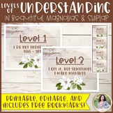 Levels of Understanding Posters Plus FREE Bookmarks {Magno