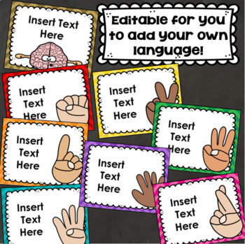 Levels of Understanding Posters Student Self Assessment Hand Signals EDITABLE