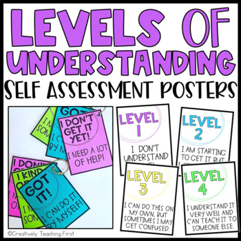 Levels of Understanding Posters and Exit Slips