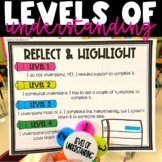 Levels of Understanding - Reflect & Highlight Posters