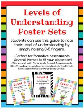 Levels of Understanding Self-Assessment Posters