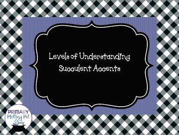 Levels of Understanding Signs-Farmhouse with Succulent Accents