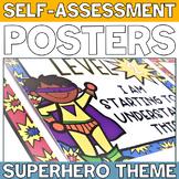 Superhero Themed Levels of Understanding Rubric Posters