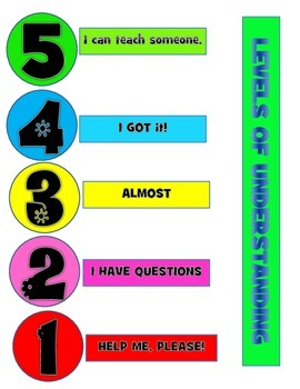 "Levels of understanding. How do I know if my students are ""getting it""?"