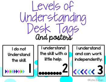 Levels of Understanding Desk Tags with *BOUNS* Classroom Posters