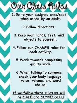 Behavior Units or Social Developmental Classroom Rules