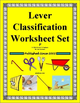 Lever Classification Worksheet Bundle