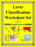 Lever Classification Worksheet Bundle for Physical Science