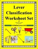 Lever Classification Worksheet Set
