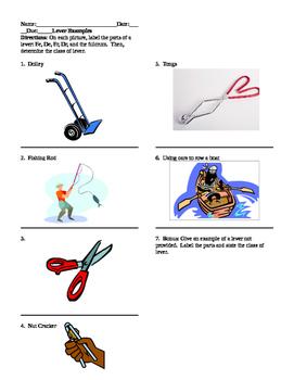 Levers worksheet