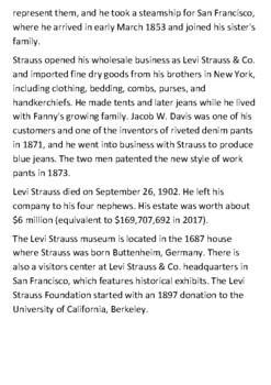 Levi Strauss Handout