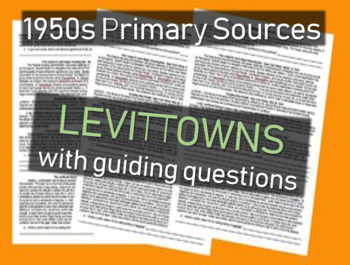 Levittown - 1950s Primary Source Documents with Questions