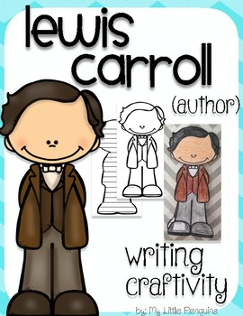"""Lewis Carroll """"Craftivity"""" Writing page (Author of Alice in Wonderland)"""