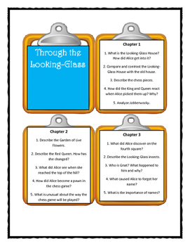 Lewis Carroll THROUGH THE LOOKING-GLASS - Discussion Cards