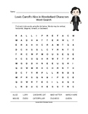 Lewis Carroll's Alice in Wonderland Characters Word Search (Grades 3-5)
