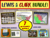 Lewis & Clark Bundle (map activity, comics PPT, journals w text-dependent Qs)