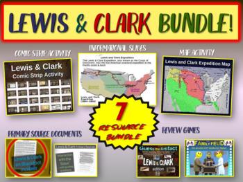 Lewis & Clark Bundle (map activity, comics PPT, journals w