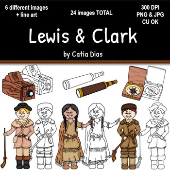 lewis clark clipart by catia dias always a teacher forever a mom rh teacherspayteachers com Lewis and Clark Ship Lewis and Clark Animals