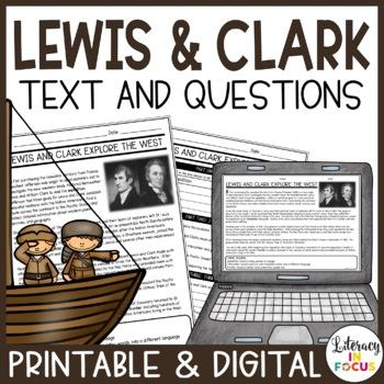 Lewis & Clark Close Read (Vocabulary, Comprehension, & Ass