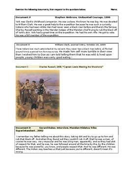 Lewis & Clark Document Analysis-York