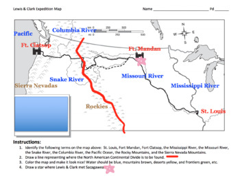 Lewis & Clark Expedition Map / Mapping the Corps of Discovery!