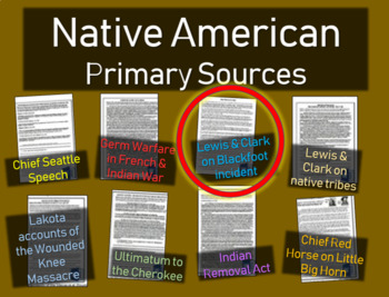 Lewis & Clark Journal (Blackfoot) - Native American Primary Source w guiding Qs