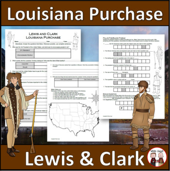 photo about Lewis Clark Printable Activities titled Louisiana Buy - Lewis and Clark Expedition