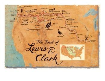 Lewis & Clark Poster Set for Bulletin Board